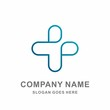 Medical Pharmacy Healthcare Geometric Cross Hospital Clinic Wellness Business Company Stock Vector Logo Design Template