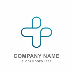 Medical Pharmacy Healthcare Geometric Cross Hospital Clinic Wellness Business Company Stock Vector Logo Design Template