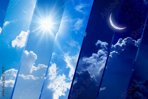 Day and night, light and darkness, sun and moon