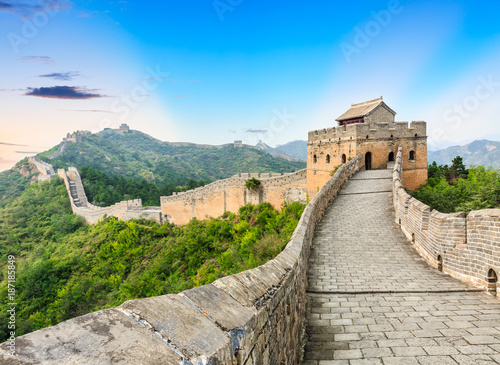Foto op Canvas Peking The famous Great Wall of China,jinshanling