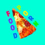 Slice of pizza. Food Porn. Flat lay minimal art - 187191663
