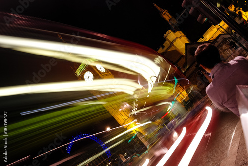 Foto op Canvas Nacht snelweg London in Action