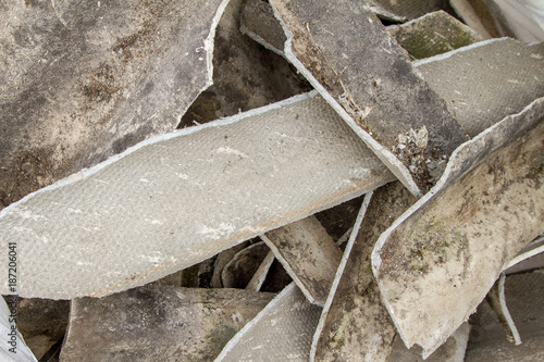 Disposed old Asbestos on a Construction Site - 187206041