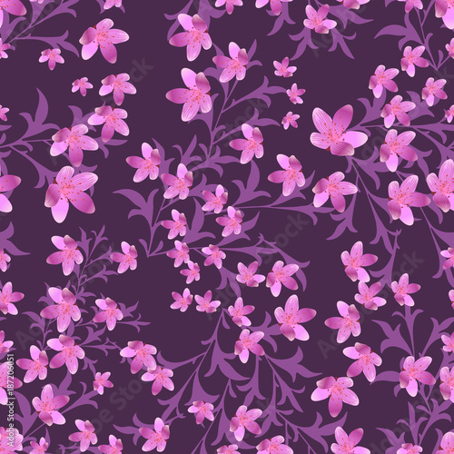 Seamless floral pattern - 187206051