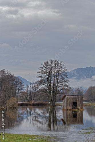 Poster Donkergrijs Inondations dans les Vosges