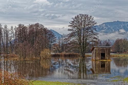 Fotobehang Landschappen Inondations dans les Vosges