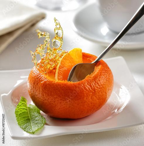 Tangerine mousse dessert - 187212607