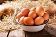 bowl of fresh eggs - 187213201