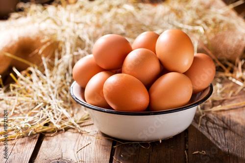 Poster bowl of fresh eggs