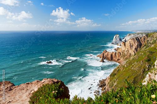Foto op Canvas Natuur view over Atlantic ocean coast, Cabo da Roka, Portugal