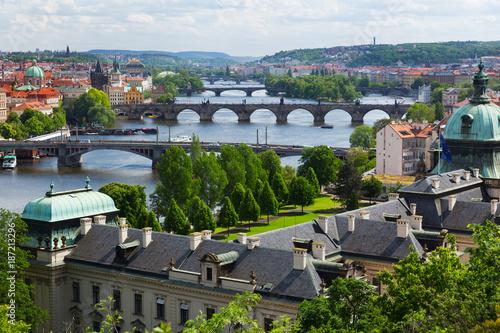 Foto op Canvas Praag Prague cityscape, view of the dold town, Czech Republic