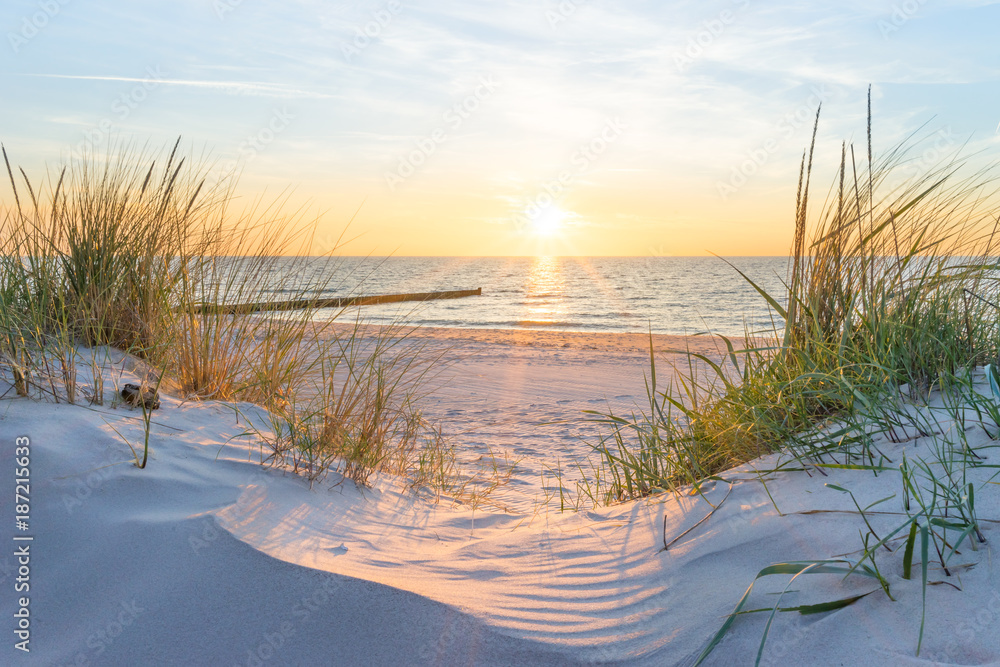 foto auf acrylglas sonnenuntergang an der ostsee nikkel. Black Bedroom Furniture Sets. Home Design Ideas