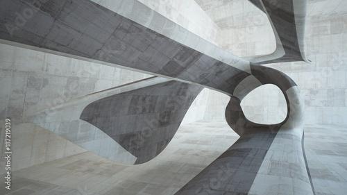 pusty-ciemny-abstrakcjonistyczny-brazu-betonu-pokoju-gladki-wnetrze-architektoniczne-tlo-nocny-widok-oswietlonego-3d-ilustracja-i-rendering