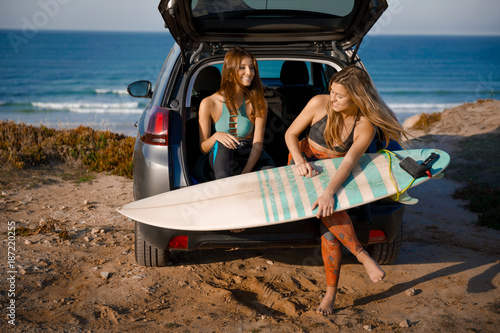 Surf and friendship Getting ready for another surf day