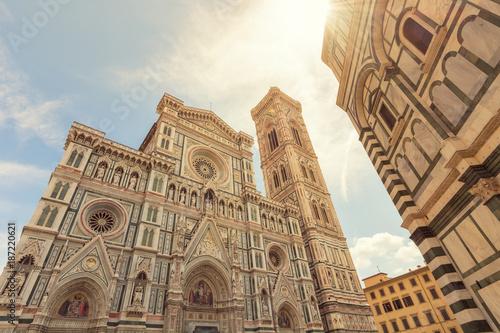 Papiers peints Florence Florenzer Dom und Baptisterium, Italien