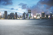 Leinwanddruck Bild - City skyline texture