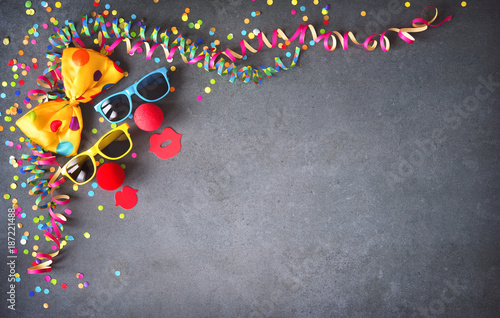 Foto op Canvas Snelle auto s Colorful birthday or carnival background