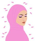 Мусульманка с лепестками цветов - 187222288