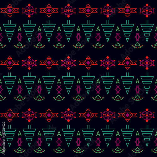 Tree seamless pattern. Paper pattern for packaging.