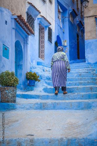Fotobehang Marokko Chefchauen