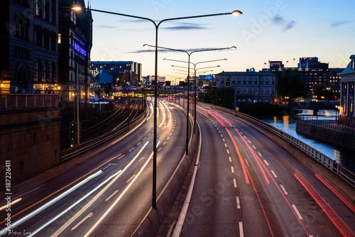 Foto op Canvas Nacht snelweg Work work work and than......