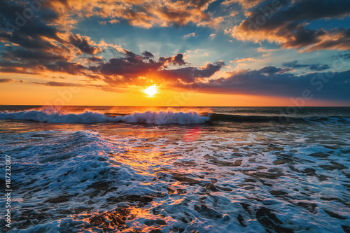 Beautiful sunrise over the sea