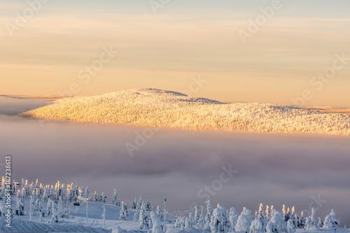 Keuken foto achterwand Beige Winter Landscape