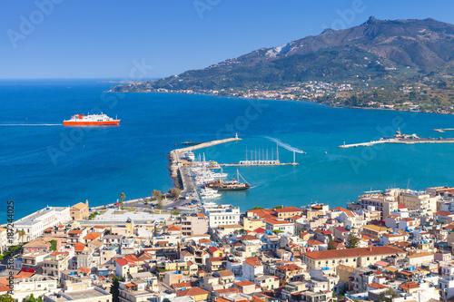 Foto Murales Main port of Zakynthos, Greek island