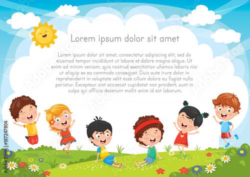 Kids Playing Outside - 187247804