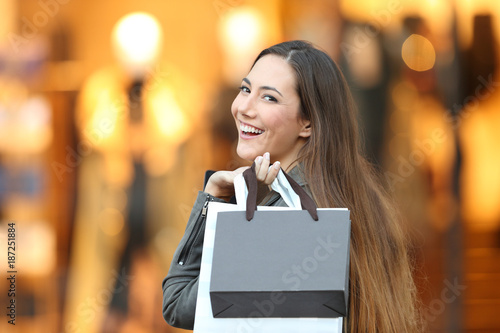 Fashion shopper looking at camera in a store - 187251884