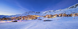 Panorama of Val Thorens by night - 187252270