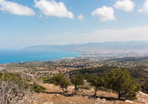 Staande foto Cyprus Coastal landscape with town of Latchi in Cyprus, Greece