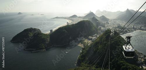 Amazing panorama of Rio de Janeiro from Sugarloaf mountain, Brazil