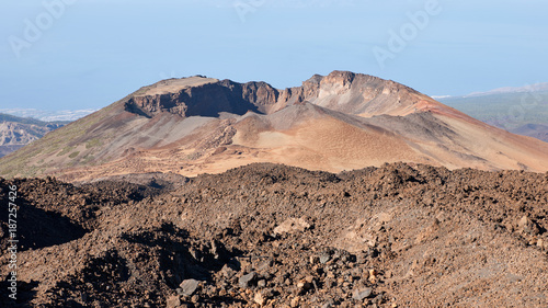 Tuinposter Zalm Secondary crater of Teide Volcano in Tenerife