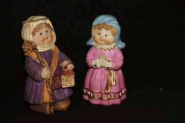 christmas of doll and art