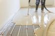 Hausbau mit Innenausbau, Einbau von Dämmung, Fußbodenheizung und Estrich
