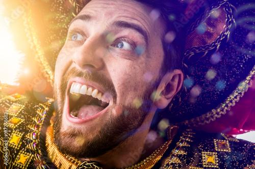 Fotobehang Rio de Janeiro Man wearing carnival costume