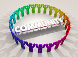 Community Many People Gathered Group Together Society 3d Illustration - 187270658