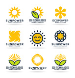 Sun energy logo templates and icons - 187279882