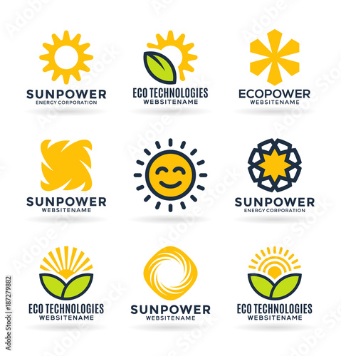 Sun energy logo templates and icons | Buy Photos | AP Images ...