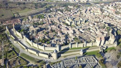 Poster Cité de Carcassonne filmée par hélicoptère en 4K