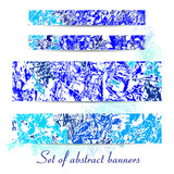 Banners set of winter textures