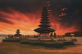 famous mystical Pura Ulun Danu water temple, bali
