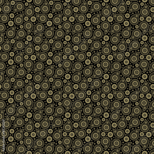 Seamless background with paisley - 187292029