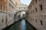 Bridge of Sighs in the early morning. Venice