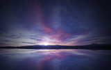 idyllic sunrise in t...