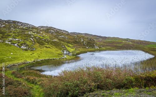In de dag Baksteen muur See auf Inishbofin