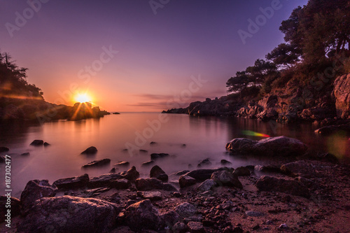 Keuken foto achterwand Zee zonsondergang S'Agaro sunrise