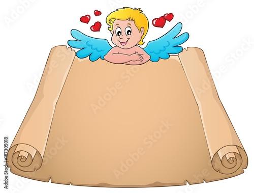 Deurstickers Voor kinderen Cupid topic parchment 5