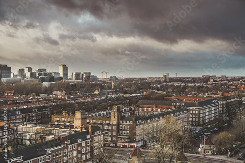 Fridge magnet Grey skies over City